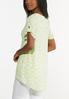 Plus Size Lime Polka Dotted Tunic alternate view