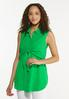 Green Tie Front Tunic alt view