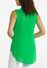 Plus Size Green Tie Front Tunic alternate view