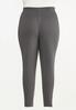 Plus Size Contrasting French Terry Pants alt view