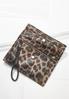 Leopard Fold Over Wristlet alternate view