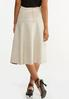 Plus Size Faux Suede Midi Skirt alternate view