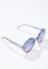 Gray Lucite Round Sunglasses alternate view