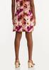 Plus Size Tie Dye Mini Skirt alternate view