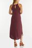 Plus Size Curved Hem Midi Dress alternate view