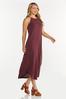 Plus Size Curved Hem Midi Dress alt view