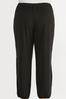 Plus Size Solid Cutout Joggers alternate view