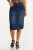 Dark Denim Pull- On Skirt alt view