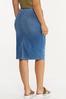 Plus Size Denim Pull- On Skirt alternate view