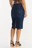 Plus Size Dark Denim Pull- On Skirt alternate view