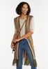 Plus Size Striped Sweater Vest alt view