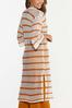 Plus Size Striped Open Stitch Duster Sweater alternate view