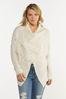 Cable Fringe Cardigan Sweater alt view