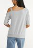 Plus Size Distressed One Shoulder Top alternate view