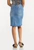 Distressed Denim Skirt alternate view