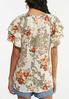 Plus Size Floral Paisley Gauze Top alternate view