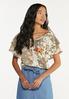 Plus Size Floral Paisley Gauze Top alt view