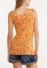 Plus Size Orange Floral Paisley Tank alternate view