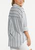 Plus Size Frayed Stripe Shirt alternate view