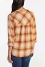 Plus Size Pumpkin Plaid Pullover Top alternate view