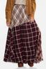 Frayed Patchwork Maxi Skirt alt view