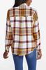 Oversized Frayed Plaid Shirt alternate view