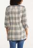 Plus Size Plaid Ruched Back Jacket alternate view