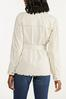 Plus Size Distressed Belted Jacket alternate view