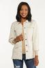 Plus Size Distressed Belted Jacket alt view