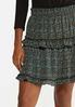 Tiered Ruffled Mini Skirt alt view