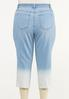 Plus Size Cropped Ombre Jeans alternate view