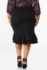 Plus Size Double Ruffle Ponte Skirt alternate view