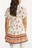 Plus Size Tasseled Fresh Floral Tunic alternate view