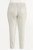 Plus Size Beige High- Rise Skinny Jeans alternate view