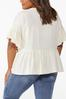 Plus Size Embroidered Poet Top alternate view