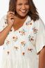 Plus Size Embroidered Poet Top alt view