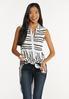 Plus Size Contrast Stripe Tunic alt view