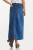 Plus Size Denim Tie Waist Maxi Skirt alternate view