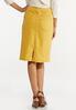 Plus Size Gold Denim Skirt alternate view