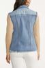 Plus Size Frayed Denim Vest alternate view