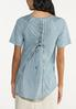 Plus Size Lace Trim High- Low Tee alternate view