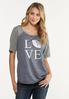 Plus Size Slouched Love Football Tee alt view