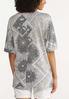 Plus Size Distressed Bandana Sweatshirt alternate view