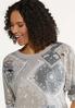 Plus Size Distressed Bandana Sweatshirt alt view