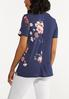 Plus Size Twisted Floral Tee alternate view