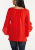 Plus Size Crepe Tiered Sleeve Top alternate view