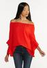 Plus Size Crepe Tiered Sleeve Top alt view