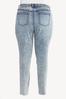 Plus Size Acid Wash Skinny Jeans alternate view