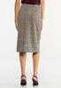 Plus Size Jacquard Pencil Skirt alternate view