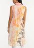Plus Size Coral Floral Tie Front Vest alternate view